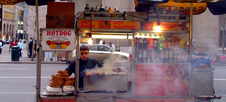 Street vendors may get a pass on permitting fees, if city leaders approve a two-month fee waiver. (Photo by Kathleen Conklin, via Flickr)