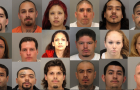 Some of the 24 suspects named in the indictment. (Mug shots via Santa Clara County District Attorney's Office)