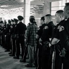 Police and community members at a March 27 candlelight vigil for the fallen officer. (Photo by @sjpdchief, via Twitter)