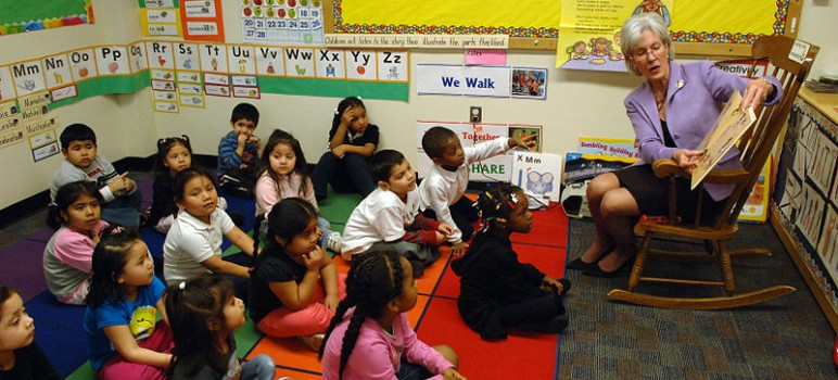 Early education is just one of several answers to increasing achievement. (Photo via HHSgov, via Wikimedia Commons)