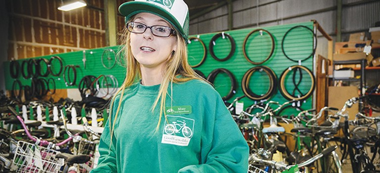 Good Karma Bikes helped Misty Todisco after she aged out of foster care. (Photo by Greg Ramar)