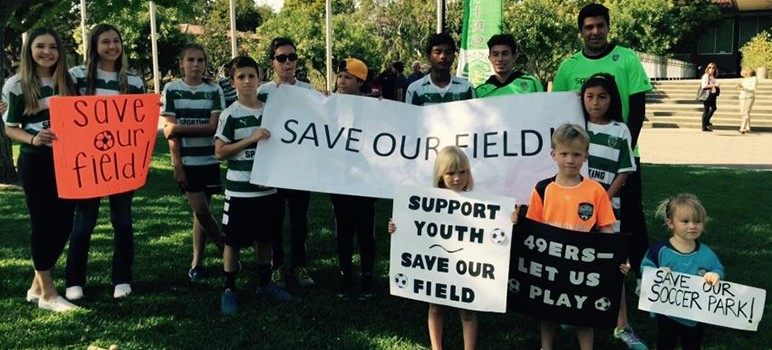 """The Santa Clara Youth Soccer League criticized the Niners for offering a """"lowball deal"""" for the fields. (Photo via Facebook)"""