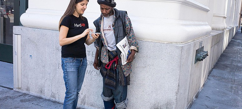 HandUp, a public benefit corporation, works with nonprofit providers to meet the needs of Silicon Valley homeless residents. (Photo courtesy of HandUp)