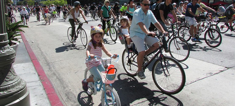 Come October, San Jose will close off streets to cars and open them up to bikes and pedestrians. (Photo via Metroactive)