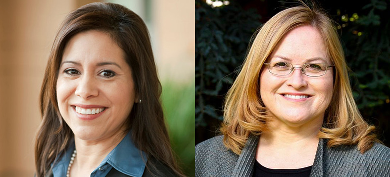 Nora Campos, left, and Cindy Chavez have been longtime political allies, but that could be changing.