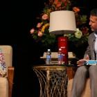 Malala Yousafzai speaks with author Khaled Hosseini at an event held at San Jose State last week. (Photo by Christina Olivas, via SJSU)