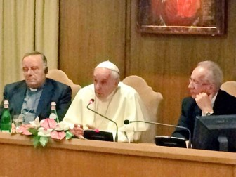 Pope Francis at the inaugural Sustainable Solutions Development Network   conference.