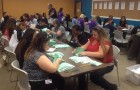 SEIU Local 521 members tally the votes on Friday. (Photo via Facebook)