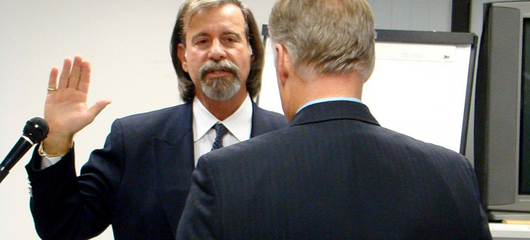 Joe Di Salvo took the oath of office as a county Board of Education trustee the day after his first column appeared on San Jose Inside in December 2008.