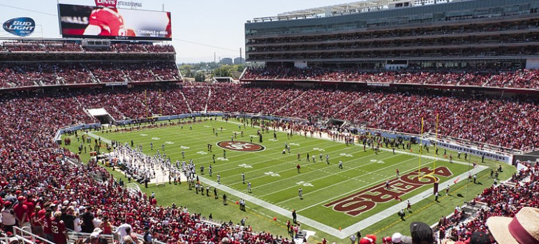 A dispute over Levi's Stadium rent payments could send the 49ers and the city of Santa Clara to an arbitrator. (Photo by Jim Bahn, via Wikimedia Commons)