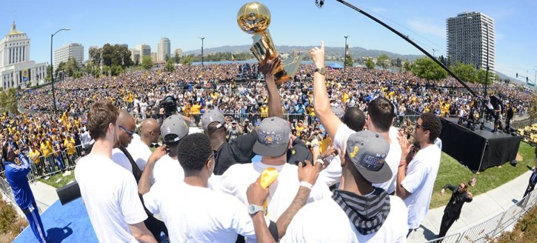 NBA champs the Golden State Warriors will visit San Jose's CIty Hall on Monday before playing an exhibition game at SAP Center. (Photo via Facebook)