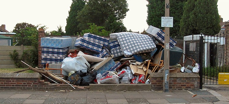 Illegal dumping has increased by 75 percent in the past few years, according to city officials. (Image via Wikimedia Commons)