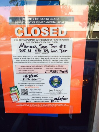 The restaurant will remain closed until health officials conclude their investigation.