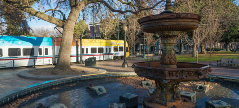 City officials want to use citywide park funds to create a special stewardship district for St. James Park. (Photo by Sergio Ruiz, via SPUR)