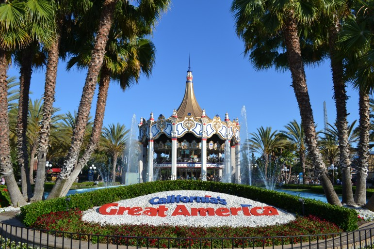 Great America has been a Santa  Clara attraction since 1976. Great America (Photo by Oleg Alexandrov, via Wikimedia Commons)