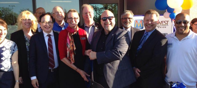 Santa Clara Jamie Matthews, center, has been an ardent supporter of Levi's Stadium and the 49ers. (Photo via Facebook)