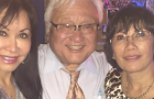Rep. Mike Honda's karaoke fundraiser had a full show of support from nonprofit executives for ConXion to Community. CEO Rose Amador LeBeau (left) and COO Lori Ramos Ehrklch (right) both attended the event. (Photo via Facebook)
