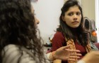 Dr. Jesica Fernandez leads an ethnic studies course at Santa Clara University. (Photo Greg Ramar)