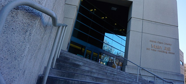 A fight broke out at San Jose's Main Jail, forcing a lockdown. (Photo by Jennifer Wadsworth)