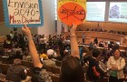More than 500 people packed City Hall for a marathon hearing on rent control. (Photo by Silicon Valley De-Bug, via Facebook)