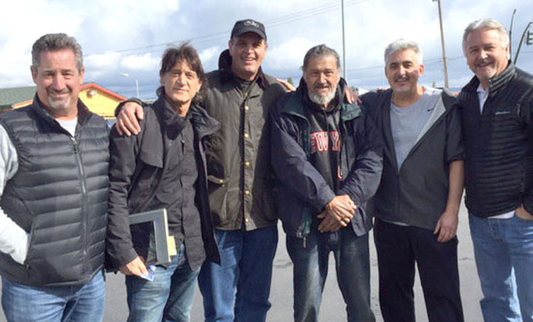 Former U.S. Coast Guardsman Gary Newman (third from right) inspired the Waldos' daily '420' quests.