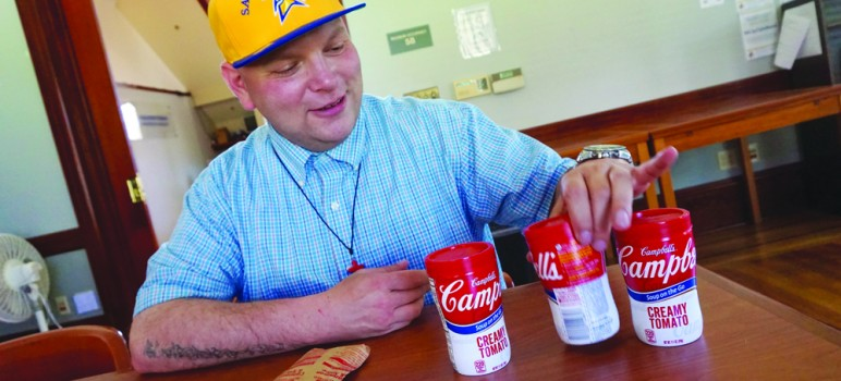 Jerry Wilburn experienced hunger during his undergrad years at San Jose State, and he now helps his peers at free campus food pantries. (Photo by Jennifer Wadsworth)