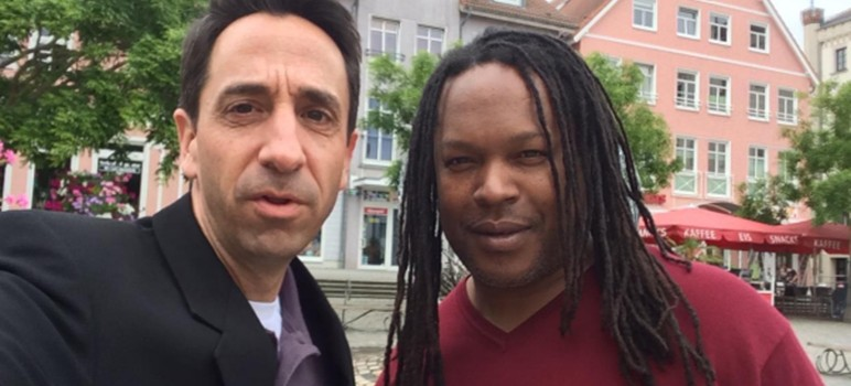 DA Jeff Rosen with activist and convicted murderer Shaka Senghor, who joined him on a fact-finding tour of German prisons last summer.