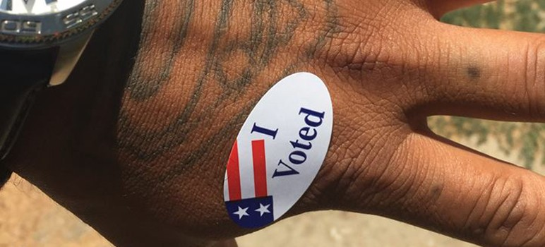 Ex-inmate Pablo Gaxiola, who voted for the first time in his life this year, says restoring voting rights to felons still inside jail will curb recidivism.