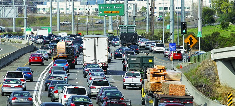 Silicon Valley traffic is among the worst in the nation. (Photo courtesy of 'Yes' on Measure B)