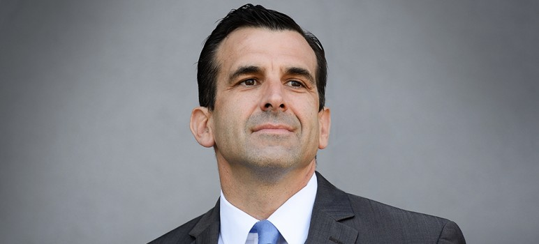 San Jose Mayor Sam Liccardo laid out a hopeful vision for San Jose in his third State of the City address. (File photo by Greg Ramar)