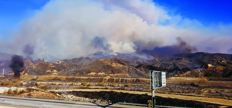 The Sand Fire this July engulged thousands of acres near Santa Clarita. (Photo by PEIEQ, via Shutterstock)