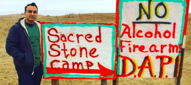 Assemblyman Ash Kalra at Standing Rock reservation in North Dakota.
