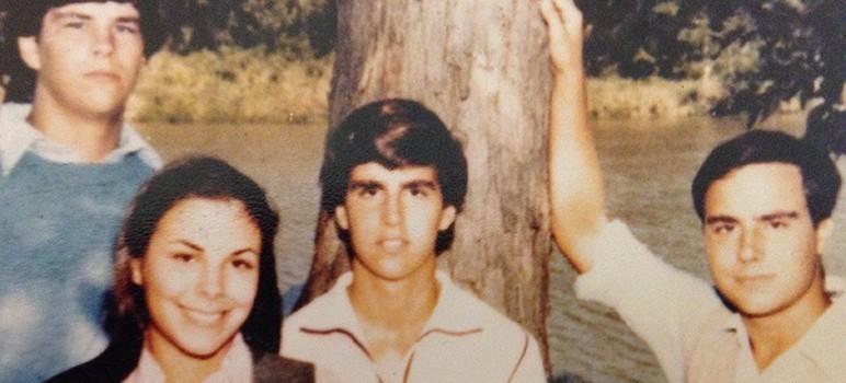 Mark Koehn, far right, and his brothers Kurtis and Peter, and sister Karen.