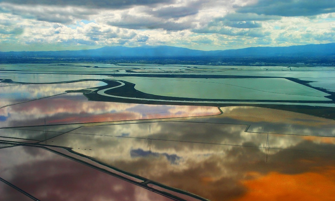 The South Bay salt ponds. (Photo by the State of California Coastal Conservancy)