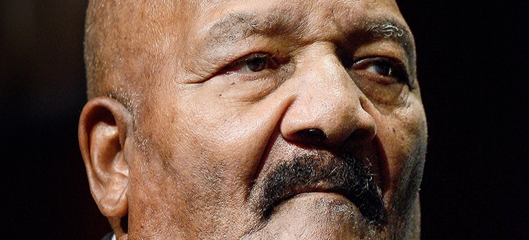 Jim Brown suggested African Americans should take after the Jews to gain greater power. (Photo by Greg Ramar)