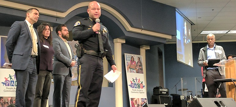 SJPD Chief Eddie Garcia discusses systemic racism at a community forum Thursday.