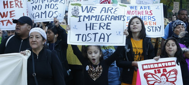 President Trump's executive orders on immigration have sparked protests across the country.  (Photo via Shutterstock)