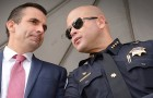 San Jose Police Chief Eddie Garcia (right) and Mayor Sam Liccardo have repeatedly stated that the city will not assist in federal immigration enforcement efforts. (Photo by Greg Ramar)