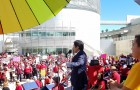 State Senate President Kevin de Léon delivers opening remarks at the A Day Without a Woman rally in front of San Jose City Hall. (Photo by Vicente Estrada)