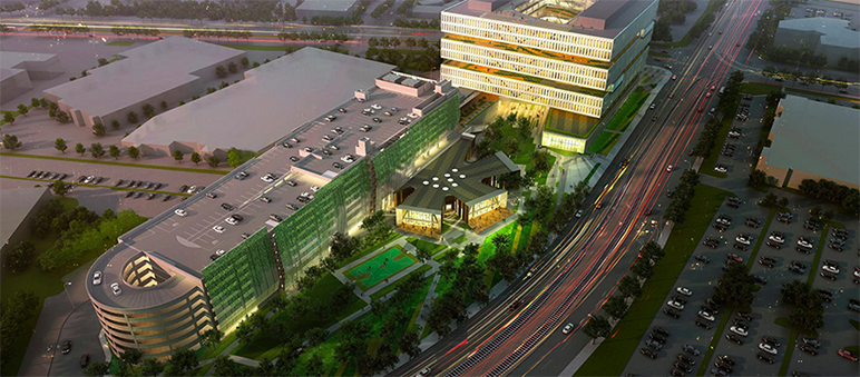 SPUR cited Samsung's North San Jose office as an example of smart transit-oriented development.