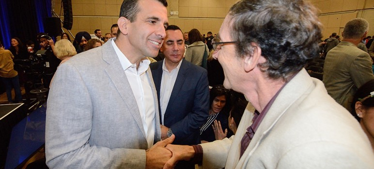 Residents are being asked to weigh in on San Jose Mayor Sam Liccardo's budget. (File photo by Greg Ramar)
