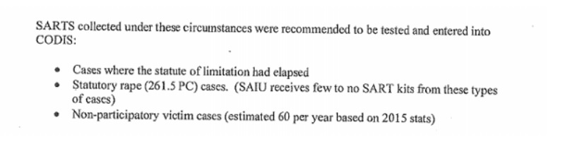 SART Criteria SJPD