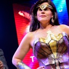 Vice Mayor Magdalena Carrasco embraced the role of Wonder Woman and speaker of truth at the annual political sketch comedy show Monday Night Live! (Photo by Greg Ramar)