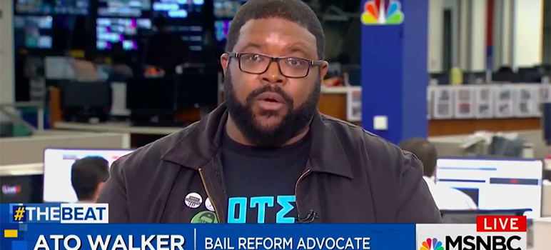 San Jose's Ato Walker has become a mouthpiece for the bail reform movement.