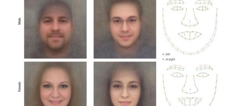 Researchers have come under fire for a controversial new study that claims to link facial features to sexual orientation. (Images via Stanford University)