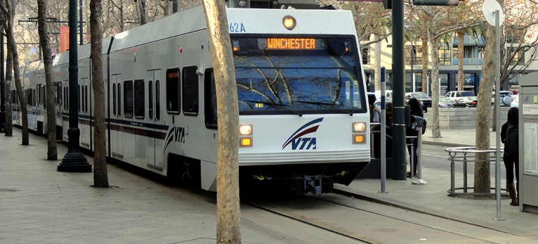 A lawsuit is holding up the VTA from dispersing millions of Measure B dollars. (Photo via Wikimedia Commons)