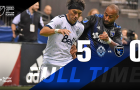 The dominant Whitecaps beat the Quakes 5-0 in the knockout round of the MLS Cup. (Photo by San Jose Earthquakes, via Facebook)