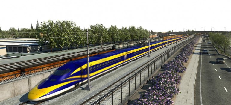Costs for a high-speed rail line from Fresno to the Bay Area  continue to climb due to delays. (Image courtesy of the California High Speed Rail Authority)
