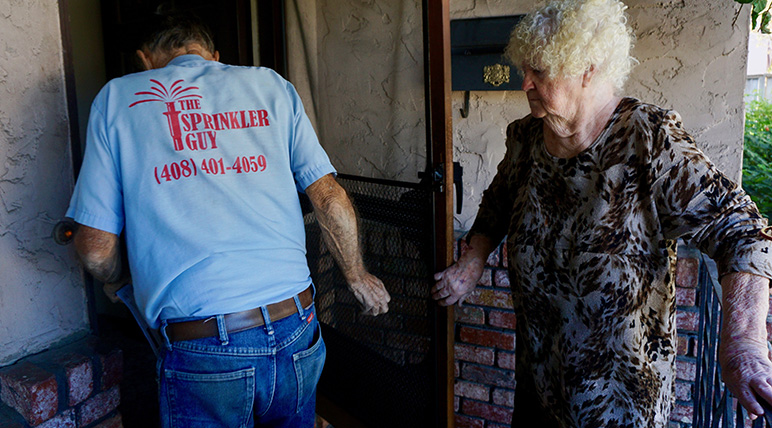 Dick and Helen have lived at their south San Jose duplex for nearly 50 years. (Photo by Jennifer Wadsworth)