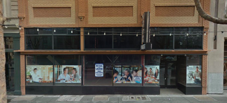 The space that formerly housed Voodoo Lounge in downtown San Jose has sat vacant for more than six years. (Screenshot via Google Street View)